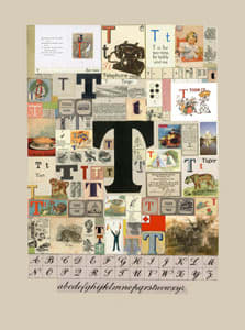 Peter Blake The Letter T, 2007 Silkscreen, embossing and glaze on Somerset satin 300gsm Signed and numbered 52 x 37.5 cm Edition of 60