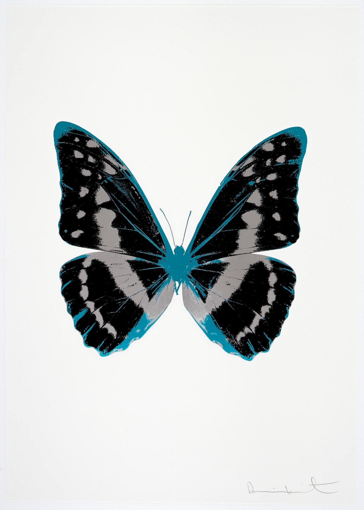 Damien Hirst The Souls III - Raven Black/Silver Gloss/Topaz, 2010 3 colour foil block on 300gsm Arches 88 archival paper. Signed and numbered. Published by Paul Stolper and Other Criteria 72 x 51cm OC7939 / 660-42 Edition of 15