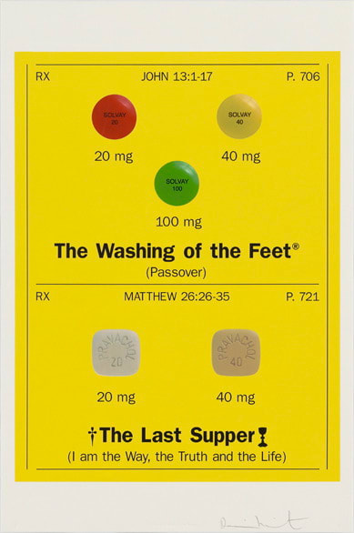 Damien Hirst XI Jesus is Nailed to the Cross The Washing of the Feet (Passover) The Last Supper (I am the Way, the Truth and the Life), 2005 Silkscreen on Somerset satin 410gsm 100 x 66.7cm Edition of 80