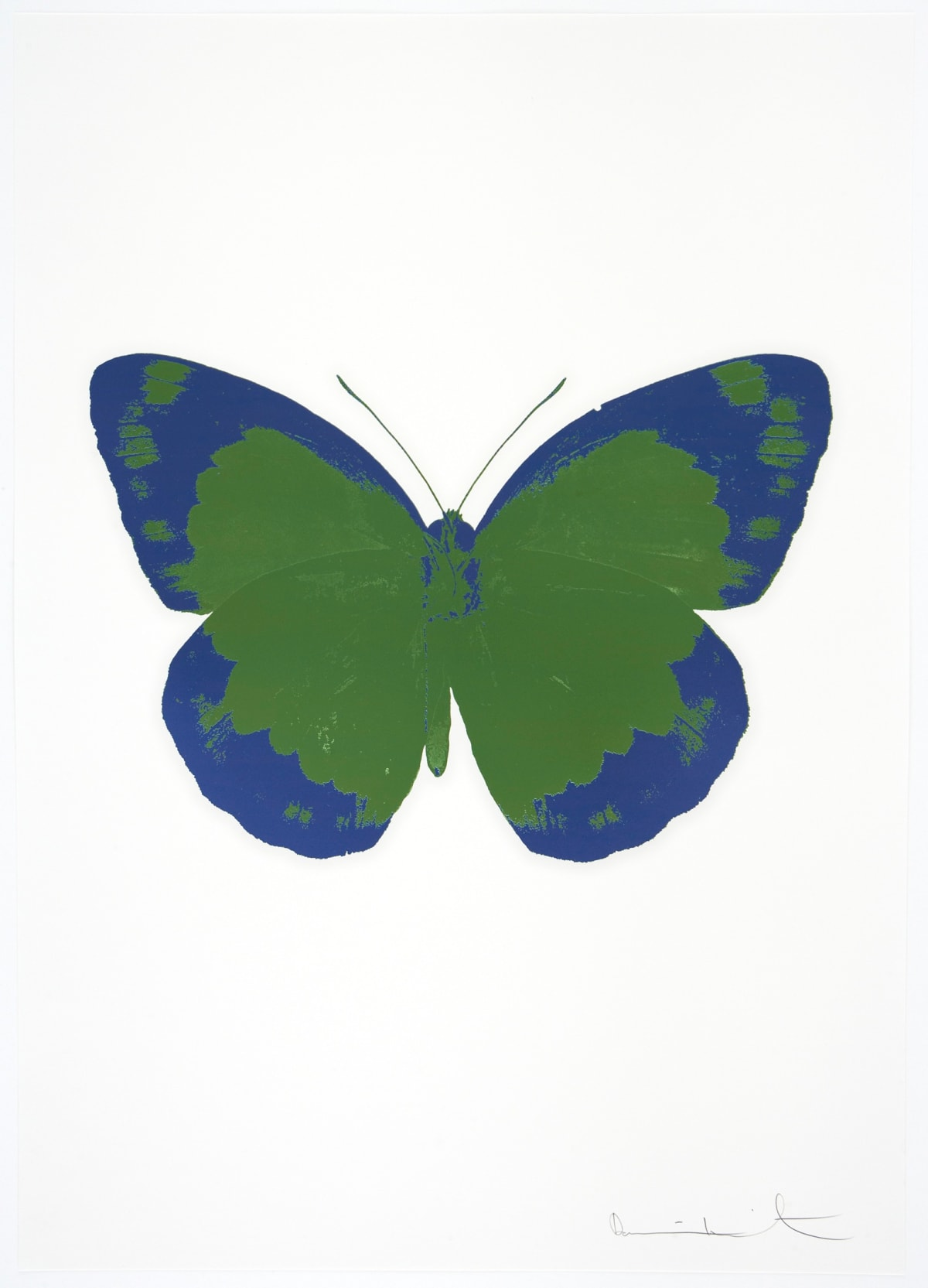 Damien Hirst The Souls II - Leaf Green/Frost Blue/Blind Impression, 2010 2 colour foil block on 300gsm Arches 88 archival paper. Signed and numbered. Published by Paul Stolper and Other Criteria 72 x 51cm OC7886 / 658-69 Edition of 15