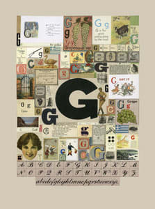 Peter Blake The Letter G, 2007 Silkscreen, embossing and glaze on Somerset satin 300gsm Signed and numbered 52 x 37.5 cm Edition of 60