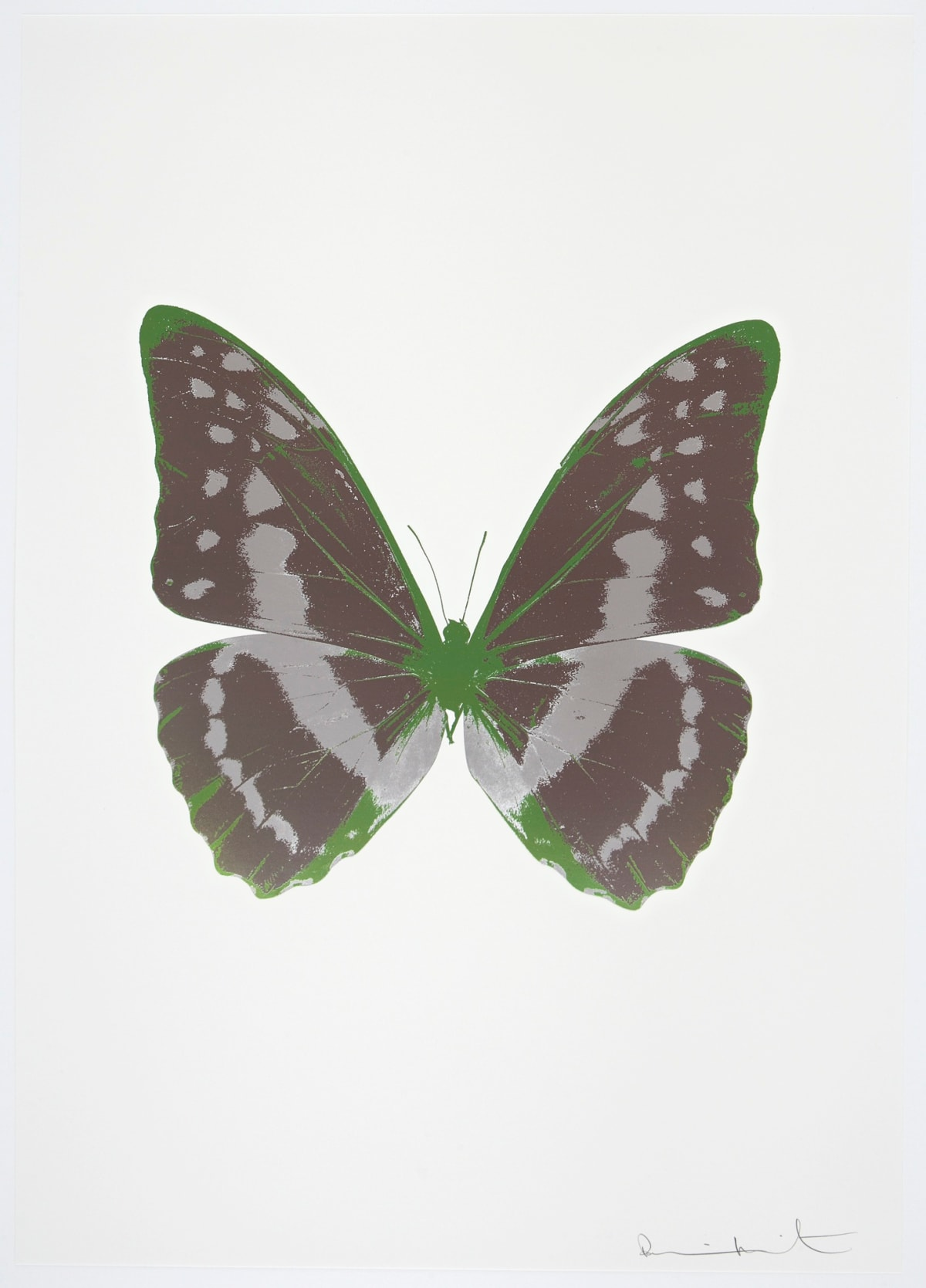Damien Hirst The Souls III - Gunmetal/Silver Gloss/Leaf Green, 2010 3 colour foil block on 300gsm Arches 88 archival paper. Signed and numbered. Published by Paul Stolper and Other Criteria 72 x 51cm OC7963 / 660-66 Edition of 15