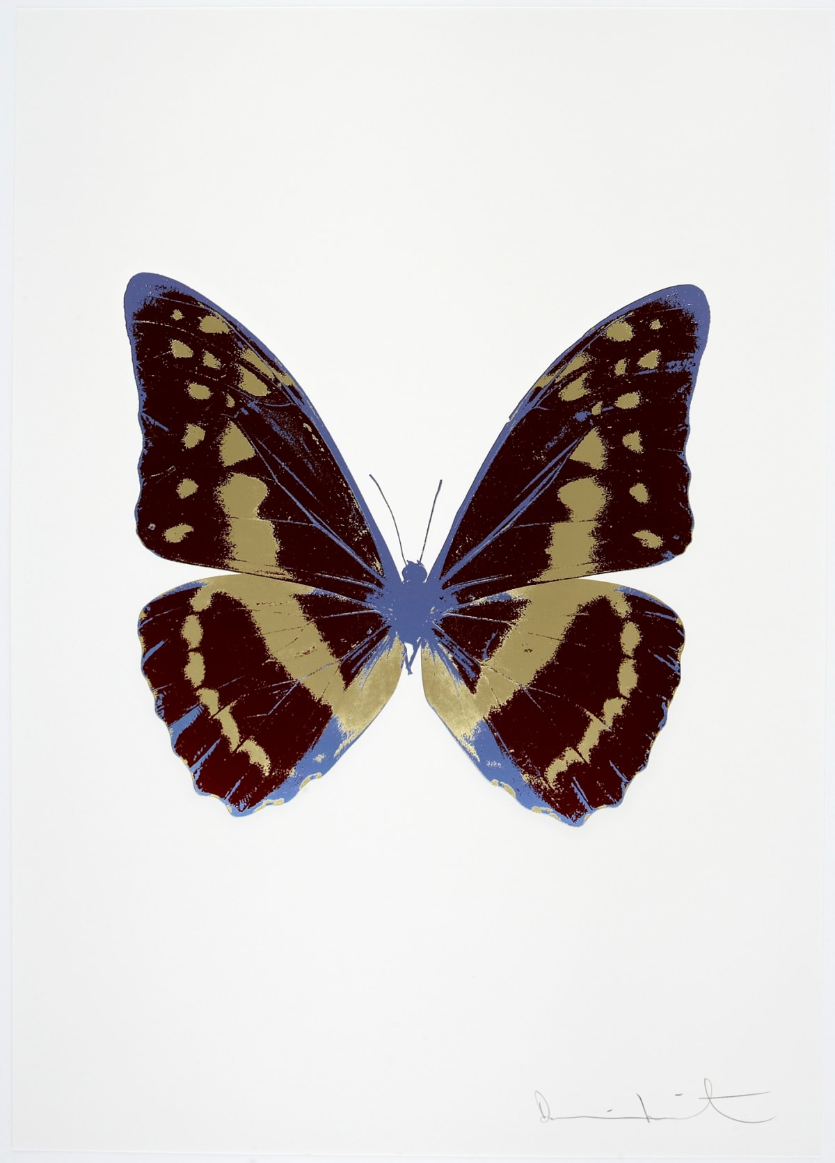 Damien Hirst The Souls III - Burgundy/Cool Gold/Cornflower Blue, 2010 3 colour foil block on 300gsm Arches 88 archival paper. Signed and numbered. Published by Paul Stolper and Other Criteria 72 x 51cm OC7972 / 660-75 Edition of 15