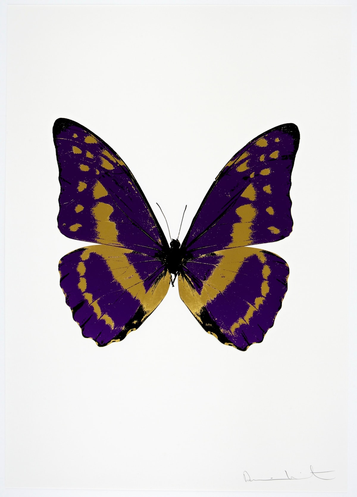 Damien Hirst The Souls III - Imperial Purple/Oriental Gold/Raven Black, 2010 3 colour foil block on 300gsm Arches 88 archival paper. Signed and numbered. Published by Paul Stolper and Other Criteria 72 x 51cm OC7953 / 660-56 Edition of 15