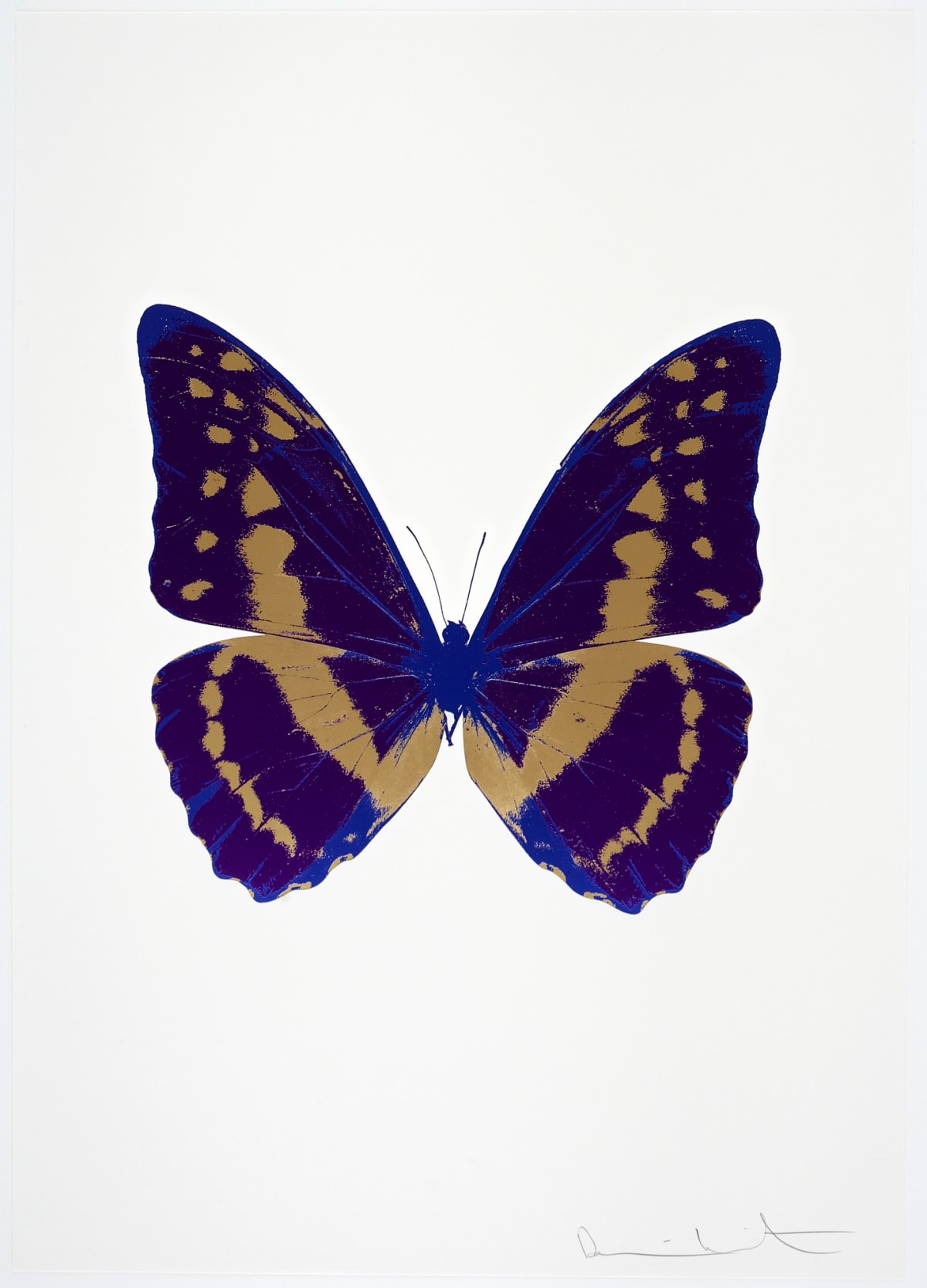 Damien Hirst The Souls III - Imperial Purple/Hazy Gold/Westminster Blue, 2010 3 colour foil block on 300gsm Arches 88 archival paper. Signed and numbered. Published by Paul Stolper and Other Criteria 72 x 51cm OC7913 / 660-16 Edition of 15