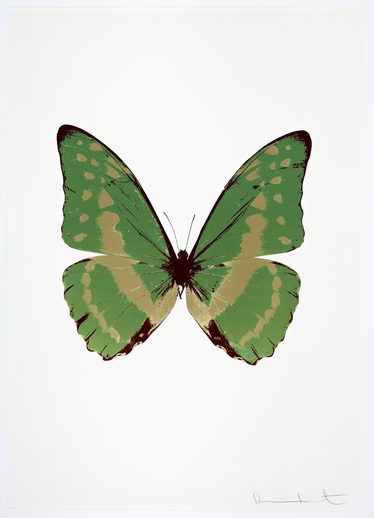 Damien Hirst The Souls III - Leaf Green/Cool Gold/Burgundy, 2010 3 colour foil block on 300gsm Arches 88 archival paper. Signed and numbered. Published by Paul Stolper and Other Criteria 72 x 51cm OC7943 / 660-46 Edition of 15