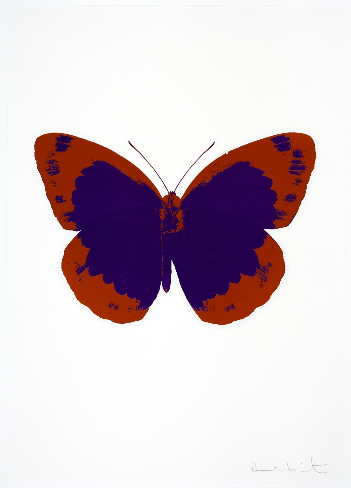 Damien Hirst The Souls II - Imperial Purple/Prairie Copper/Blind Impression, 2010 2 colour foil block on 300gsm Arches 88 archival paper. Signed and numbered. Published by Paul Stolper and Other Criteria 72 x 51cm OC7890 / 658-73 Edition of 15