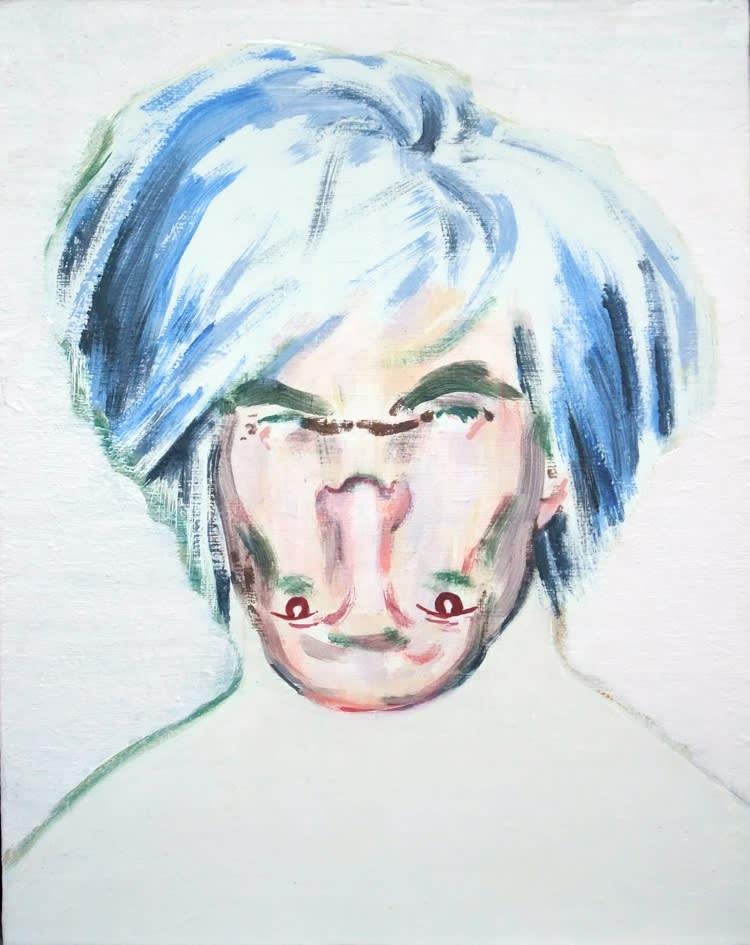 Darren Coffield Shockheaded Warhol, 2011 Acrylic on canvas. Signed by the artist en verso. Framed 28 x 23 cm; Framed 38 x 31.5 x 7 cm 11 x 9.1 in Framed 15 x