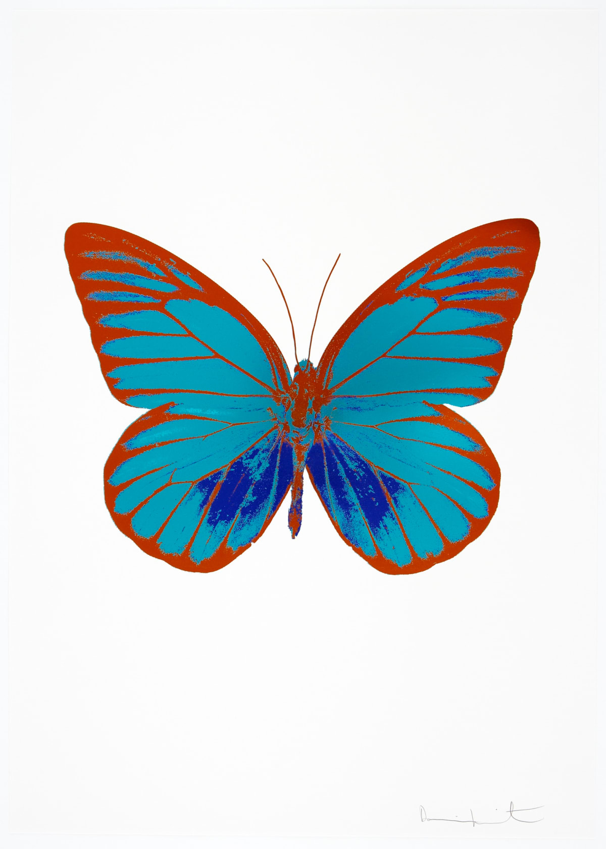 Damien Hirst The Souls I - Topaz/Westminster Blue/Prairie Copper, 2010 3 colour foil block on 300gsm Arches 88 archival paper. Signed and numbered. Published by Paul Stolper and Other Criteria 72 x 51cm OC7816 / 659-79 Edition of 15