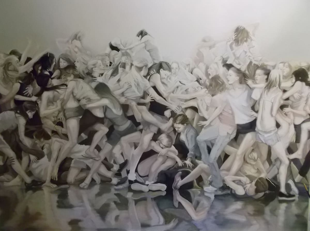 Grace O'Connor Anything goes and everything goes, 2016 Oil on canvas. Signed on verso 153 x 153 cm