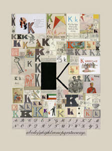 Peter Blake The Letter K, 2007 Silkscreen, embossing and glaze on Somerset satin 300gsm Signed and numbered 52 x 37.5 cm Edition of 60