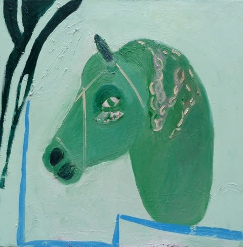 Georgia Hayes Horse with plaited mane, 2014 Oil on canvas. Signed and dated on verso 76 x 76 cm