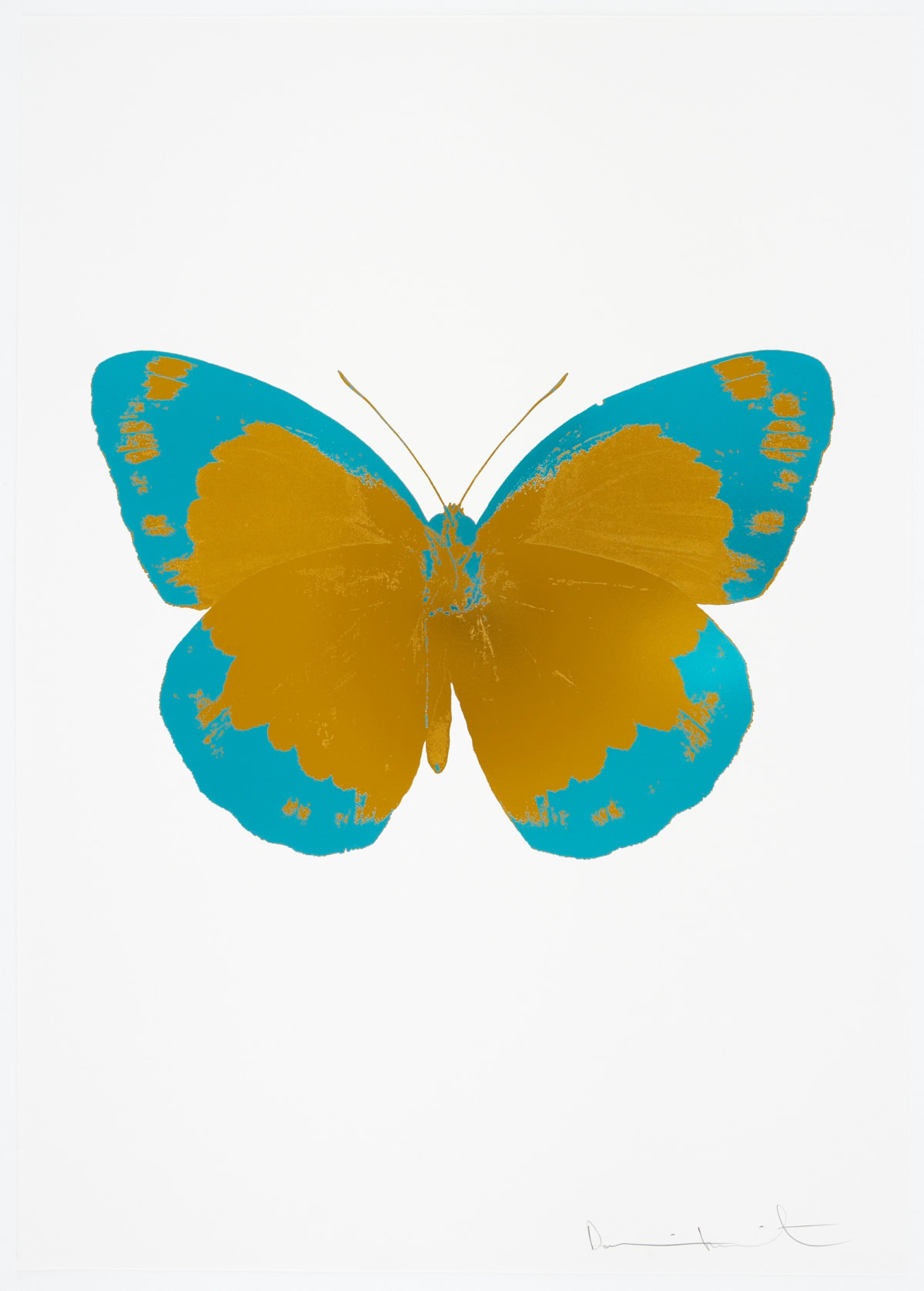 Damien Hirst The Souls II - Paradise Copper/Topaz/Blind Impression, 2010 2 colour foil block on 300gsm Arches 88 archival paper. Signed and numbered. Published by Paul Stolper and Other Criteria 72 x 51cm OC7838 / 658-21 Edition of 15