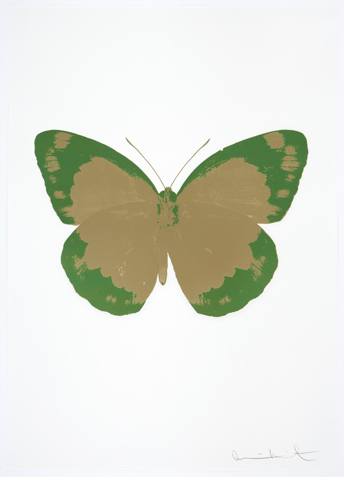 Damien Hirst The Souls II - Cool Gold/Leaf Green/Blind Impression, 2010 2 colour foil block on 300gsm Arches 88 archival paper. Signed and numbered. Published by Paul Stolper and Other Criteria. OC7897 / 658-80 72 x 51cm Edition of 15