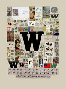 Peter Blake The Letter W, 2007 Silkscreen, embossing and glaze on Somerset satin 300gsm Signed and numbered 52 x 37.5 cm Edition of 60