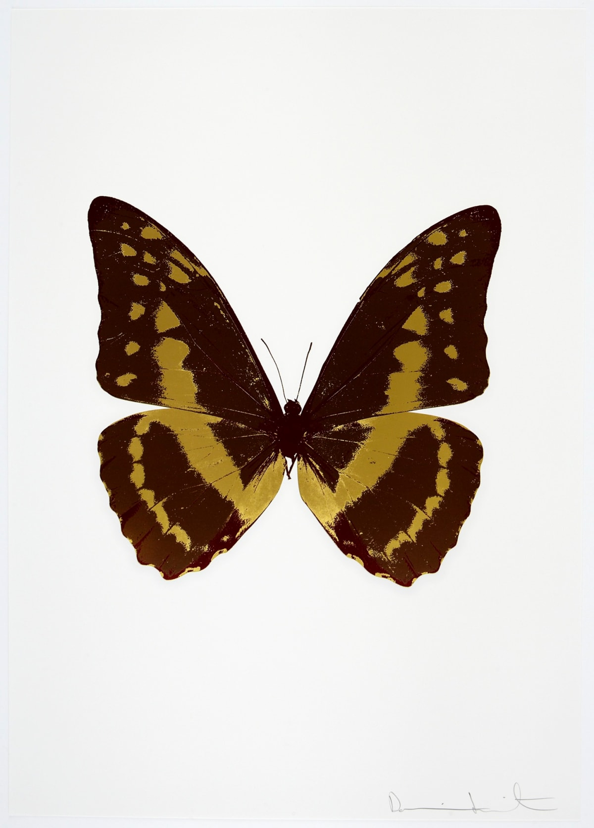 Damien Hirst The Souls III - Chocolate/Oriental Gold/Burgundy, 2010 3 colour foil block on 300gsm Arches 88 archival paper. Signed and numbered. Published by Paul Stolper and Other Criteria 72 x 51cm OC7906 / 660-9 Edition of 15