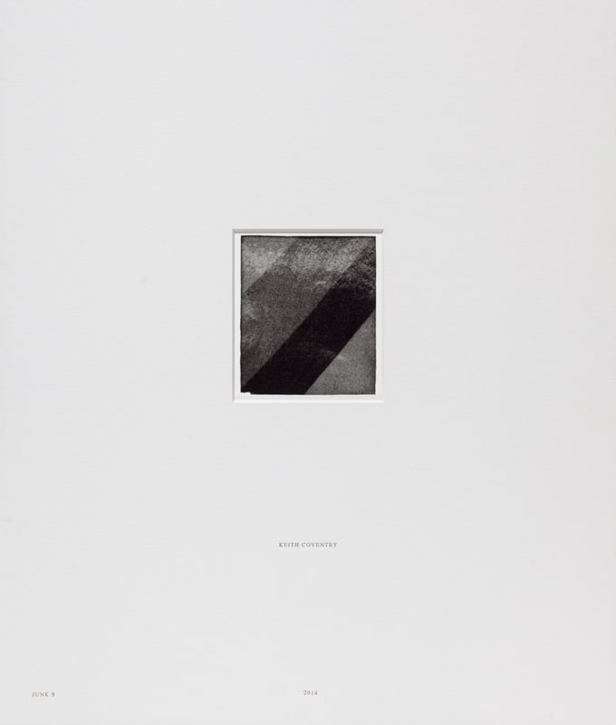 Keith Coventry Junk 9, 2014 Lithograph on Somerset White 300gsm and mounted in museum archival board. Signed, numbered and mounted Sheet size: 51.4 x 45 cm / Mount size 56.5 x 48 cm Edition of 25