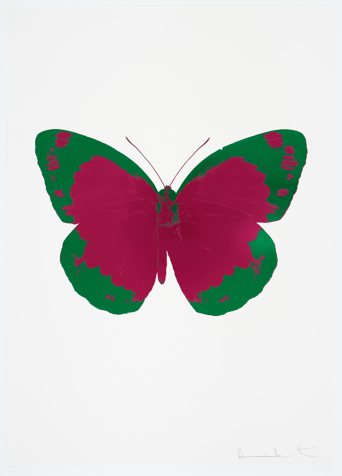 Damien Hirst The Souls II - Fuchsia Pink/Emerald Green/Blind Impression, 2010 2 colour foil block on 300gsm Arches 88 archival paper. Signed and numbered. Published by Paul Stolper and Other Criteria 72 x 51cm OC7833 / 658-16 Edition of 15