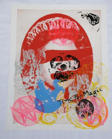 Jamie Reid Liberty (Red), 2011 Inkjet base print on 310 gsm Hahnemuhle 'German Etching' Paper with acrylic screen print additions. Signed, numbered and titled by the artist. Sheet size 112 x 82.4 cm. Sheet size 44.1 x 32.4 in ed.2/10