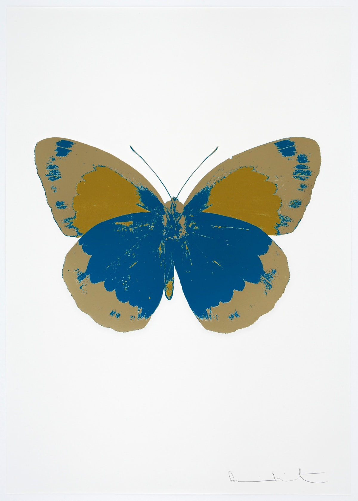 Damien Hirst The Souls II - Turquoise/Cool Gold/Oriental Gold, 2010 3 colour foil block on 300gsm Arches 88 archival paper. Signed and numbered. Published by Paul Stolper and Other Criteria 72 x 51cm OC7875 / 658-58 Edition of 15