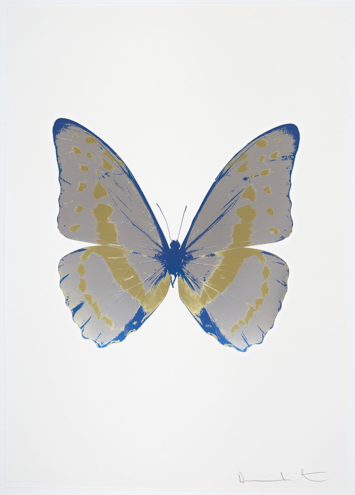 Damien Hirst The Souls III - Silver Gloss/Cool Gold/Frost Blue, 2010 3 colour foil block on 300gsm Arches 88 archival paper. Signed and numbered. Published by Paul Stolper and Other Criteria 72 x 51cm OC7951 / 660-54 Edition of 15