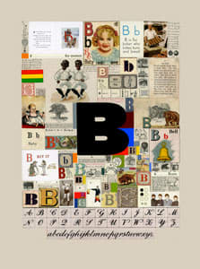 Peter Blake The Letter B, 2007 Silkscreen, embossing and glaze on Somerset satin 300gsm Edition of 60. Signed and numbered 52 x 37.5 cm Edition of 60