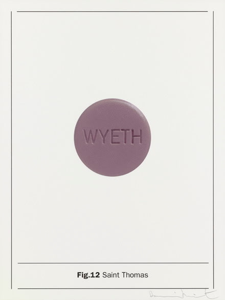 Damien Hirst Fig.12 Saint Thomas, 2005 Silkscreen on Somerset satin 410gsm 66.7 x 50 cm Edition of 80 Signed and numbered. Published by Paul Stolper and Other Criteria