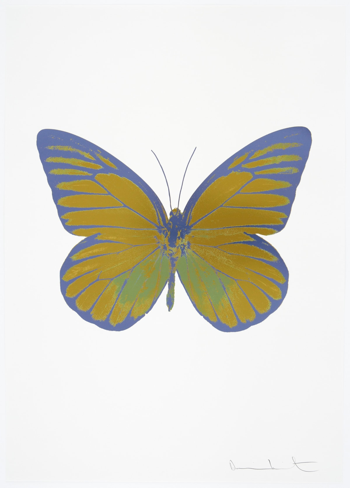 Damien Hirst The Souls I - Oriental Gold/Leaf Green/Cornflower Blue, 2010 3 colour foil block on 300gsm Arches 88 archival paper. Signed and numbered. Published by Paul Stolper and Other Criteria 72 x 51cm OC7760 / 659-23 Edition of 15