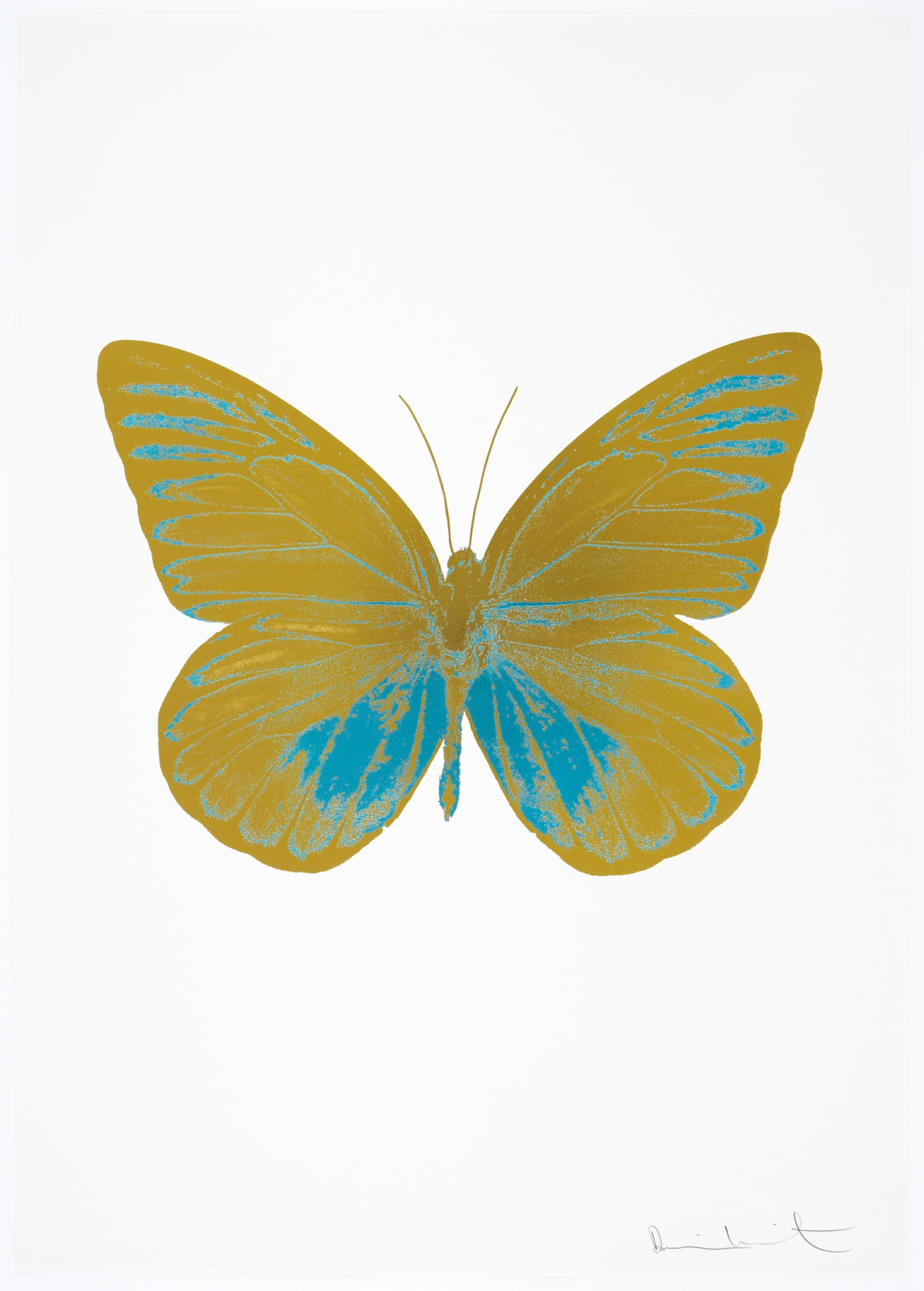 Damien Hirst The Souls I - Oriental Gold/Topaz, 2010 2 colour foil block on 300gsm Arches 88 archival paper. Signed and numbered. Published by Paul Stolper and Other Criteria 72 x 51cm OC7783 / 659-46 Edition of 15