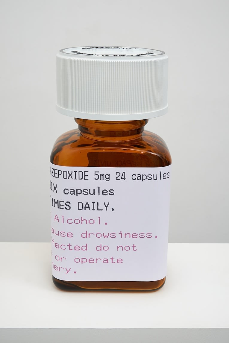 Damien Hirst Chlordiazepoxide 5mg 24 capsules Polyurethane resin with Tri pigments for colour. 2014. Numbered, signed and dated in the cast. Published by Paul Stolper and Other Criteria. OC10062 / DHS18308 H 54 x W 27 x D 19 cm Cap - 22cm diameter Edition of 30