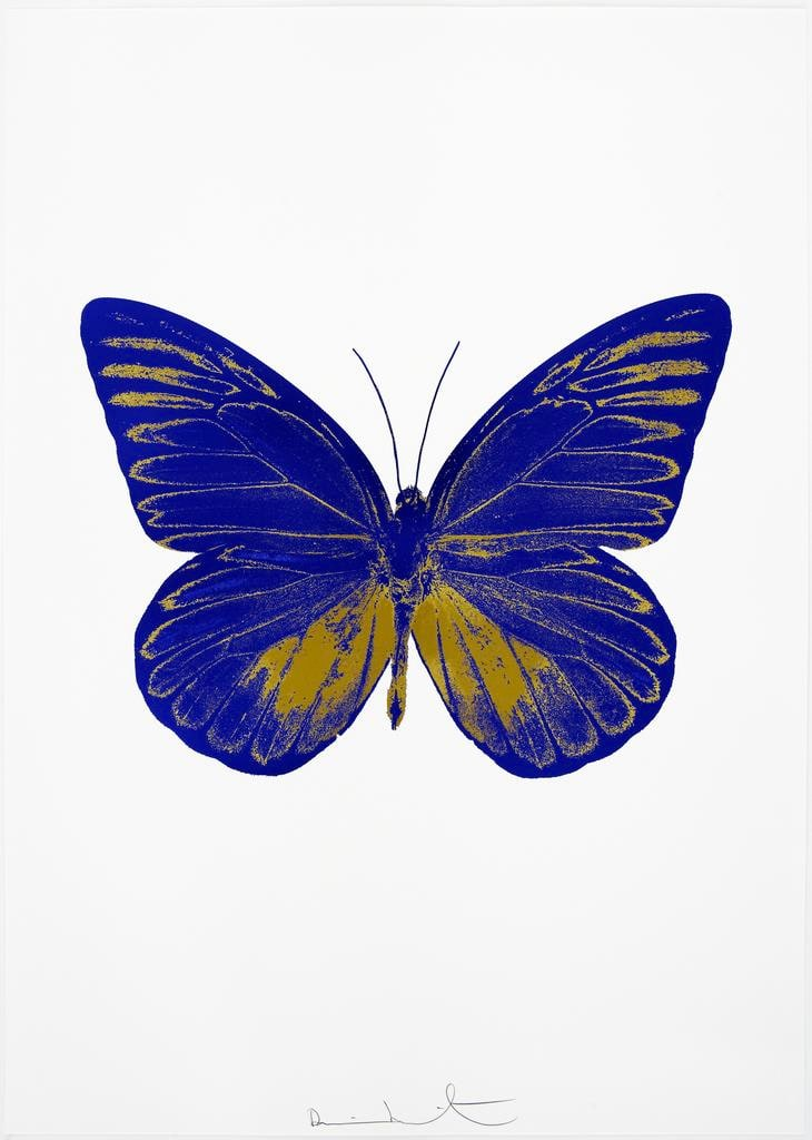 Damien Hirst The Souls I - Westminster Blue/Oriental Gold, 2010 2 colour foil block on 300gsm Arches 88 archival paper. Signed and numbered. Published by Paul Stolper and Other Criteria 72 x 51cm OC7800 / 659-63 Edition of 15