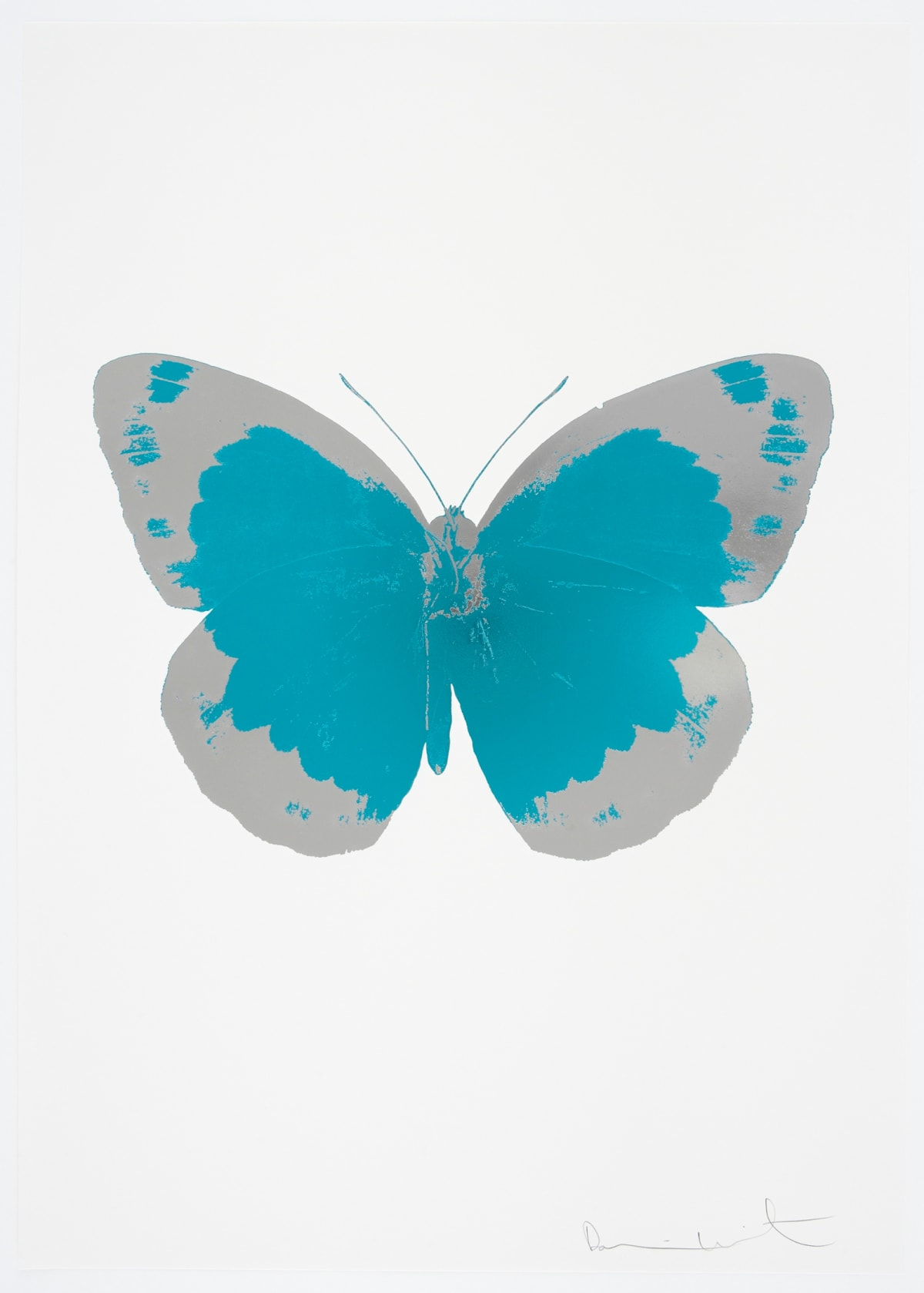 Damien Hirst The Souls II - Topaz/Silver Gloss/Blind Impression, 2010 2 colour foil block on 300gsm Arches 88 archival paper. Signed and numbered. Published by Paul Stolper and Other Criteria 72 x 51cm OC7846 / 658-29 Edition of 15