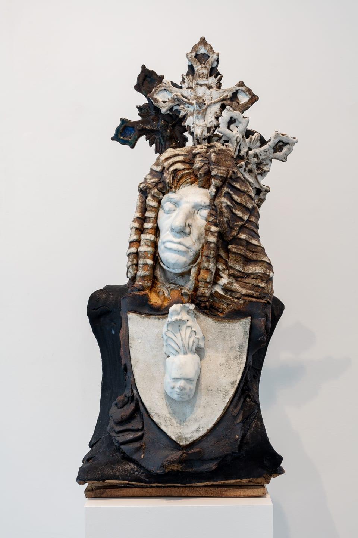 Marcus Harvey Nelson Nilus, 2018 Glazed stoneware 77 x 34 x 29 cm