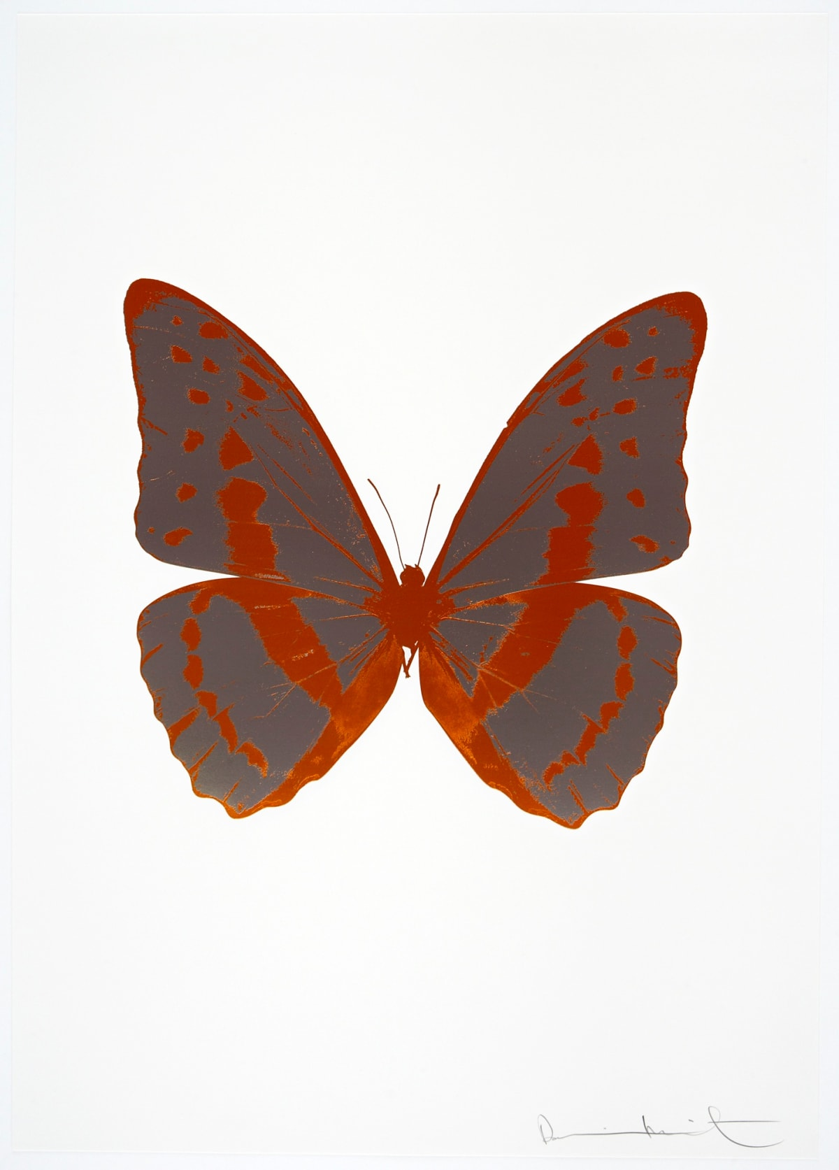 Damien Hirst The Souls III - Gunmetal/Prairie Copper/Prairie Copper, 2010 2 colour foil block on 300gsm Arches 88 archival paper. Signed and numbered. Published by Paul Stolper and Other Criteria 72 x 51cm OC7960 / 660-63 Edition of 15