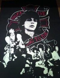 John Dove and Molly White Johnny Thunders (Rebel No.6), 2010 Screen print on hand-made rag paper, made from recycled T-Shirts. signed and numbered on verso. Edition of 24. 77 x 56 cm 30.3 x 22 in Edition of 24