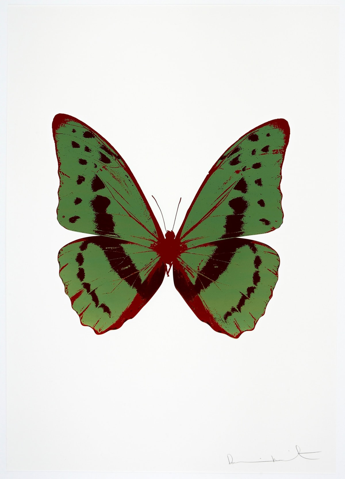 Damien Hirst The Souls III - Leaf Green/Burgundy/Chilli Red, 2010 3 colour foil block on 300gsm Arches 88 archival paper. Signed and numbered. Published by Paul Stolper and Other Criteria 72 x 51cm OC7909 / 660-12 Edition of 15