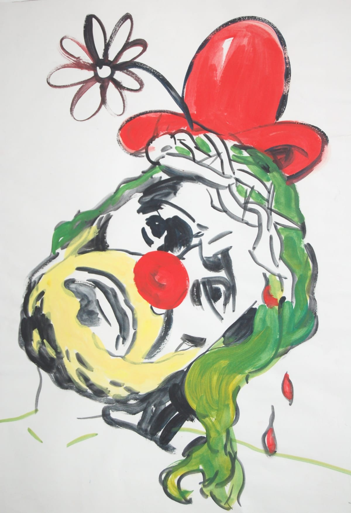 Shaun Doyle & Mally Mallinson Christ Clown, 2006 Gouache on paper. Signed and dated by the artists. 59 x 42 cm