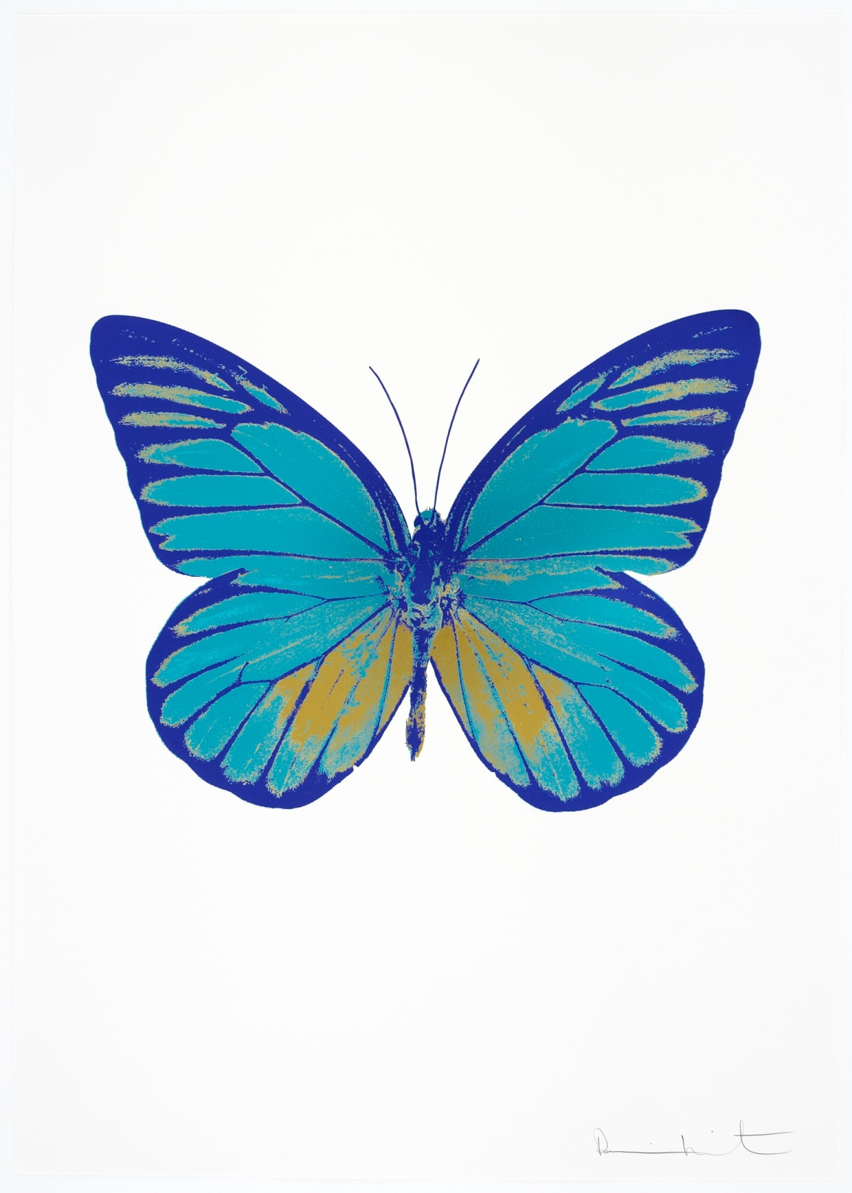 Damien Hirst The Souls I - Topaz/Oriental Gold/Westminster Blue, 2010 3 colour foil block on 300gsm Arches 88 archival paper. Signed and numbered. Published by Paul Stolper and Other Criteria 72 x 51cm OC7754 / 659-17 Edition of 15
