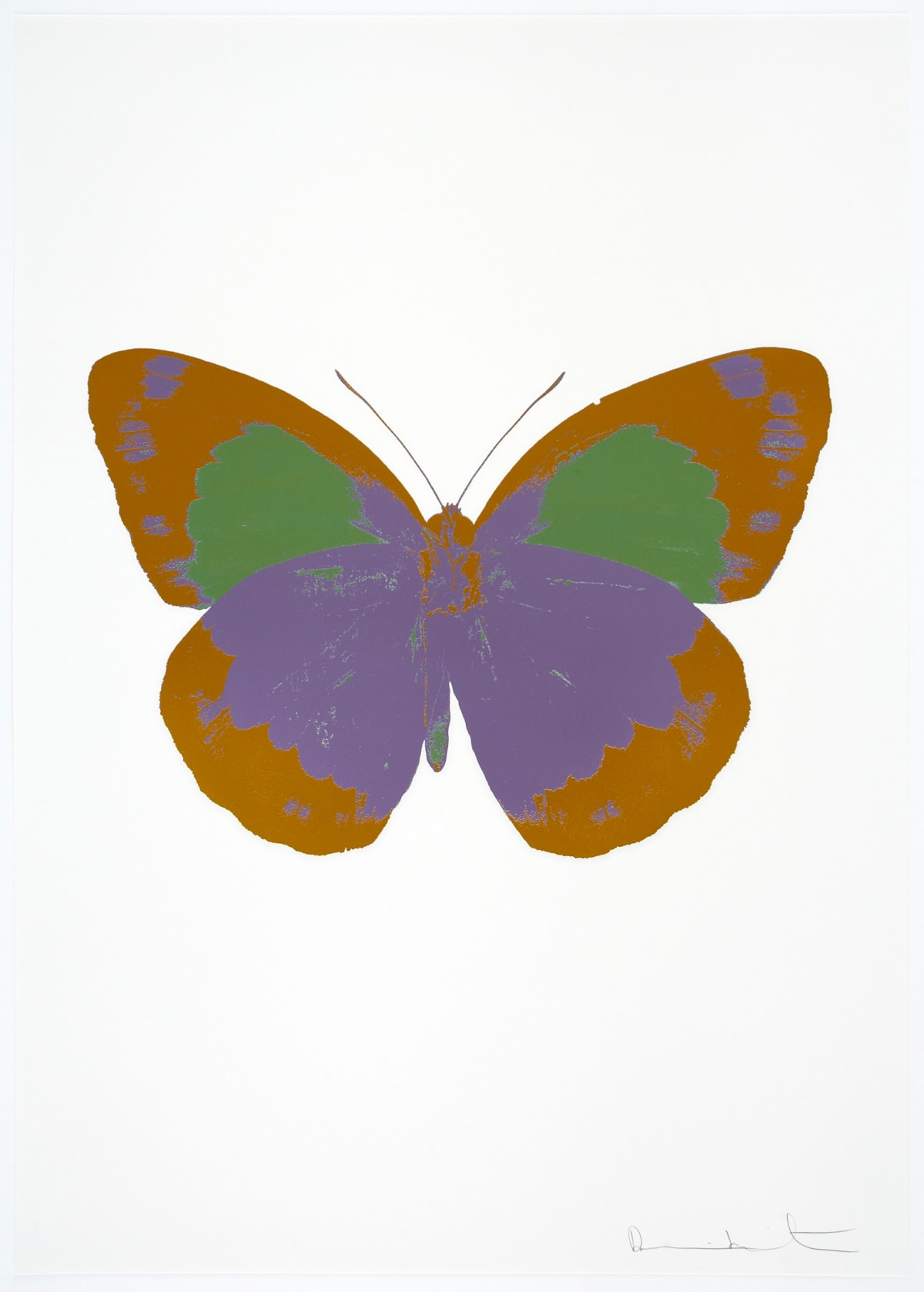 Damien Hirst The Souls II - Aquarius/Paradise Copper/Leaf Green, 2010 3 colour foil block on 300gsm Arches 88 archival paper. Signed and numbered. Published by Paul Stolper and Other Criteria 72 x 51cm OC7868 / 658-51 Edition of 15