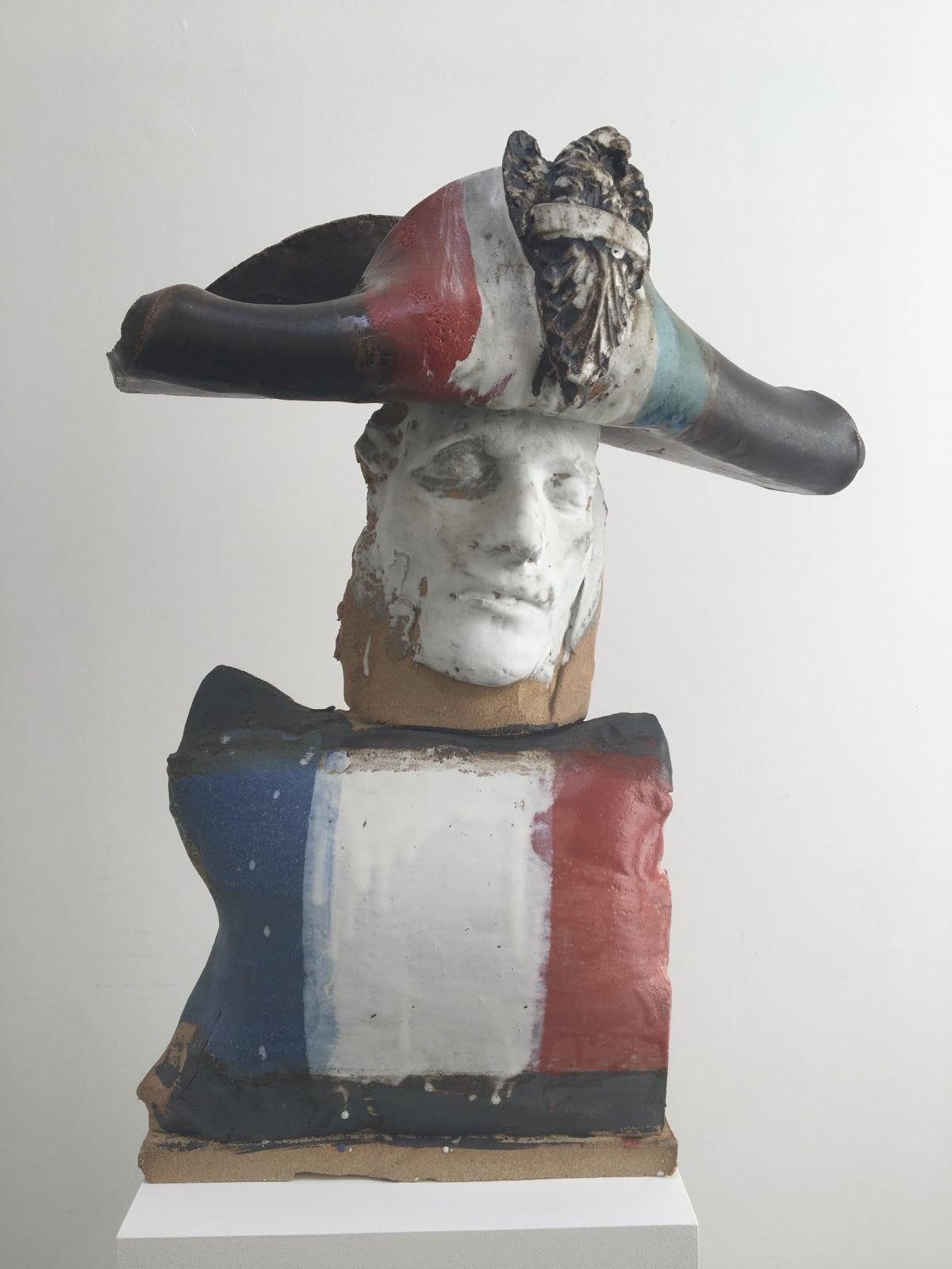 Marcus Harvey Little Napoleon, 2018 Glazed stoneware 58 x 48 x 23 cm