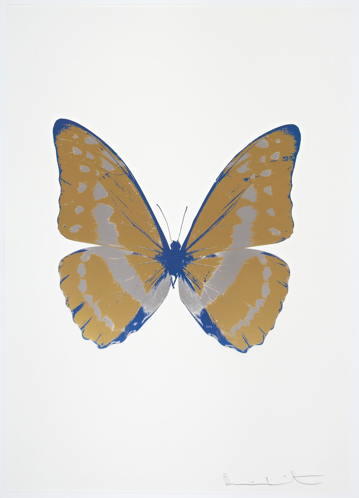 Damien Hirst The Souls III - Hazy Gold/Silver Gloss/Frost Blue, 2010 3 colour foil block on 300gsm Arches 88 archival paper. Signed and numbered. Published by Paul Stolper and Other Criteria 72 x 51cm OC7912 / 660-15 Edition of 15