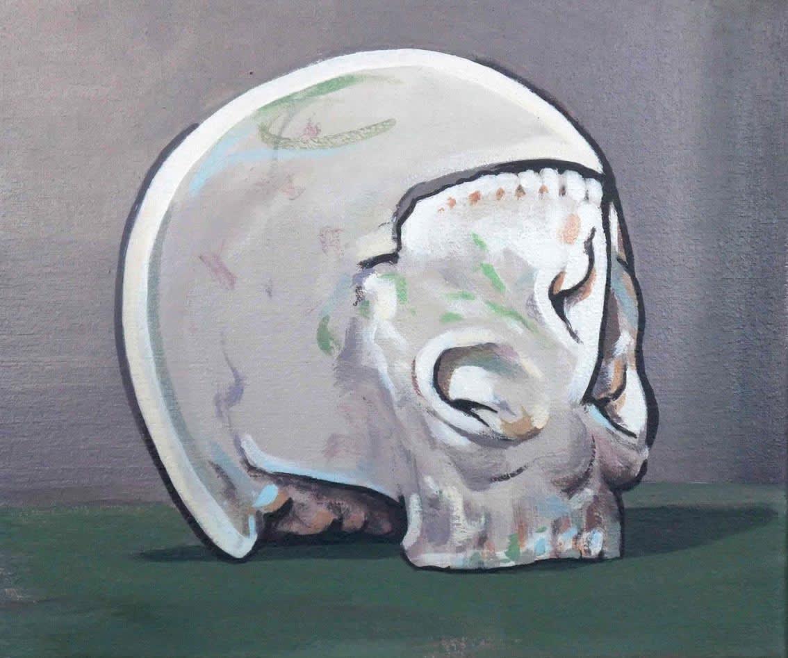 Darren Coffield New Skull, 2011 Acrylic on canvas. Signed by the artist en verso. Framed 24 x 29.5 cm / Framed 36 x 41 x 7 cm 9.4 x 11.6 in Framed 14.2 x