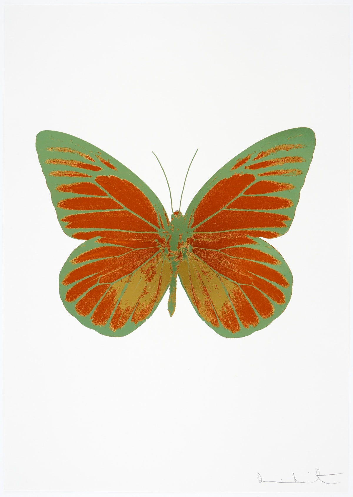 Damien Hirst The Souls I - Prairie Copper/Oriental Gold/Leaf Green, 2010 3 colour foil block on 300gsm Arches 88 archival paper. Signed and numbered. Published by Paul Stolper and Other Criteria 72 x 51cm OC7747 / 659-10 Edition of 15