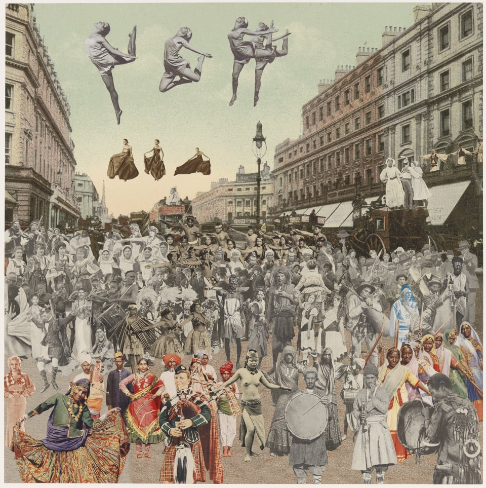 Peter Blake London- Regent Street- Dancing, 2012 Silkscreen print on 410gsm Somerset Tub Sized Signed and numbered by artist. 66.6. x 65.2 cm Edition of 100