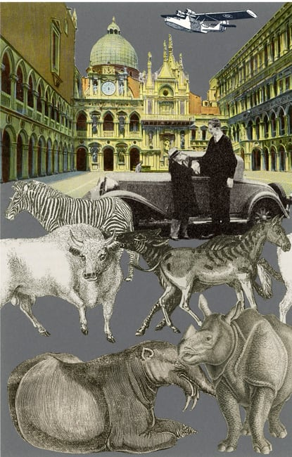 Peter Blake Venice - 'Exotic Beasts', 2009 Silkscreen printed on 400gsm Somerset tub Sized. Signed and numbered by the artist. 40.65 x 30.5 cm Edition of 75