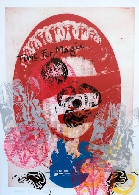 Jamie Reid Liberty (Red), 2011 Inkjet base print on 310 gsm Hahnemuhle 'German Etching' Paper with acrylic screen print additions. Signed, numbered and titled by the artist. Framed. Sheet size 112 x 82.4 cm. Sheet size 44.1 x 32.4 in ed.6/10