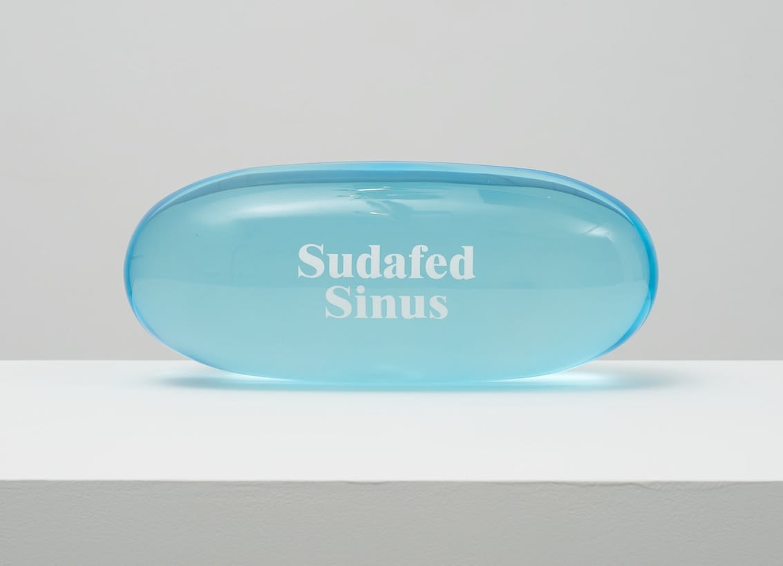 Damien Hirst Sudafed PE Sinus Clear polyurethane resin with ink pigment. 2014.Edition of 30. Numbered, signed and dated in the cast. Published by Paul Stolper and Other Criteria. OC10051 / DHS18297 L 30cm x diameter 13cm L 11.8 x diameter 5.1 Edition of 30