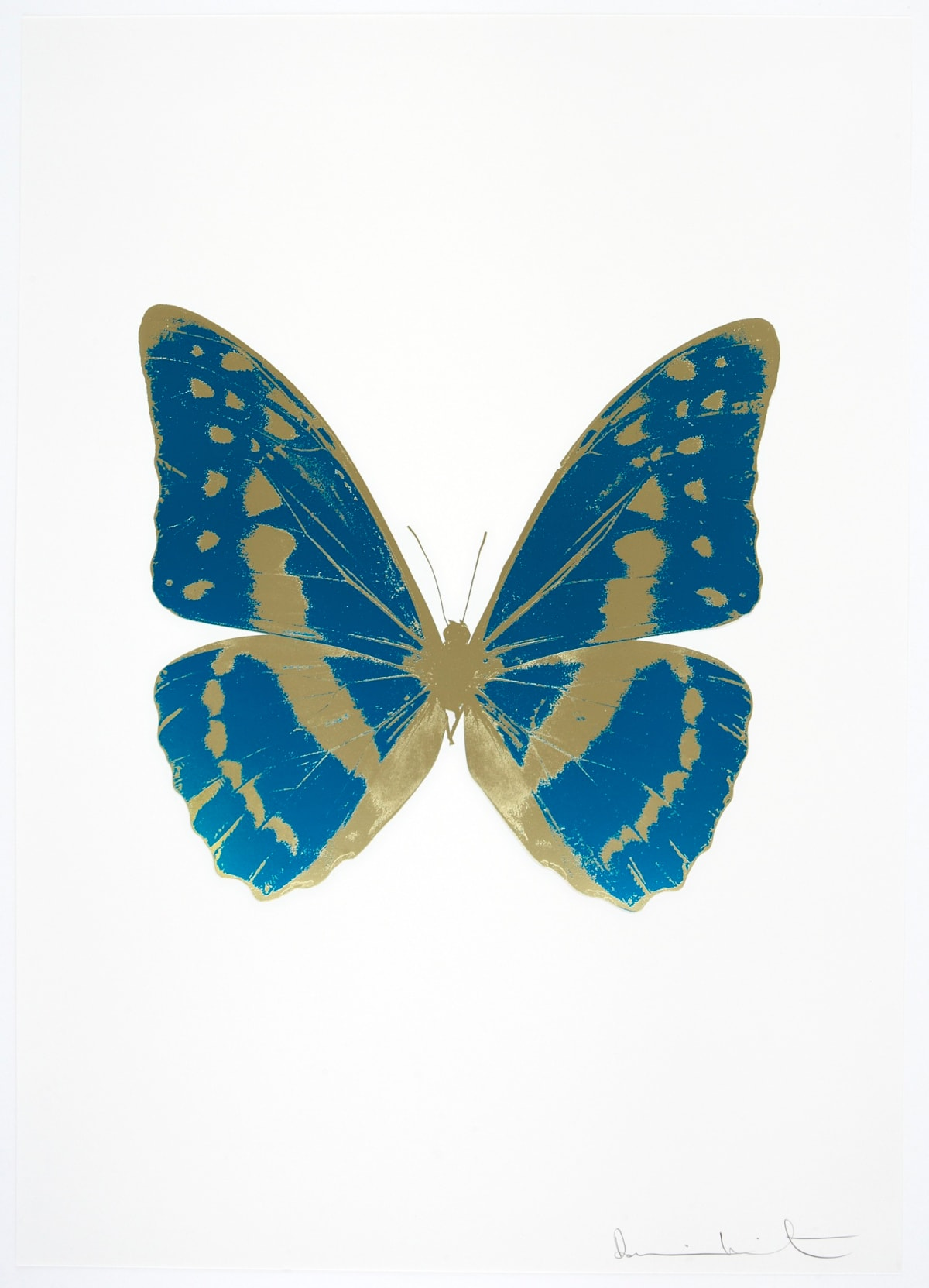 Damien Hirst The Souls III - Turquoise/Cool Gold/Cool Gold, 2010 2 colour foil block on 300gsm Arches 88 archival paper. Signed and numbered. Published by Paul Stolper and Other Criteria 72 x 51cm OC7965 / 660-68 Edition of 15