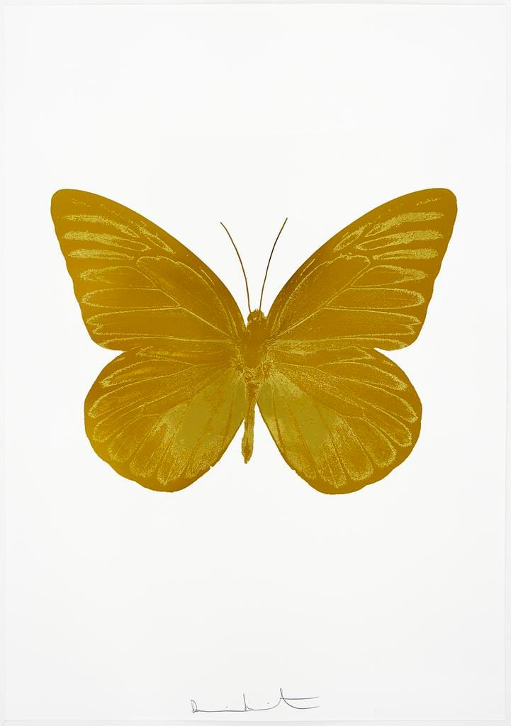 Damien Hirst The Souls I - Paradise Copper/Oriental Gold, 2010 2 colour foil block on 300gsm Arches 88 archival paper. Signed and numbered. Published by Paul Stolper and Other Criteria 72 x 51cm OC7809 / 659-72 Edition of 15