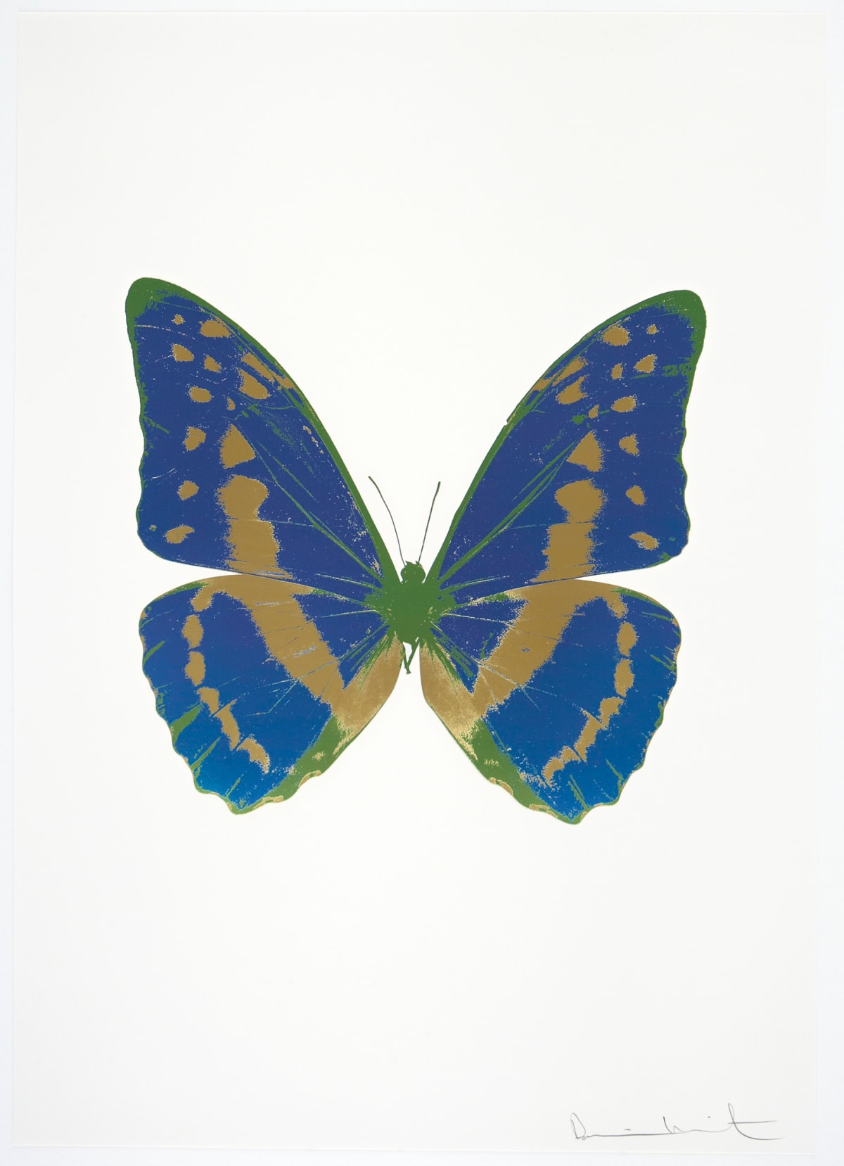 Damien Hirst The Souls III - Frost Blue/Sunset Gold/Leaf Green, 2010 3 colour foil block on 300gsm Arches 88 archival paper. Signed and numbered. Published by Paul Stolper and Other Criteria 72 x 51cm OC7938 / 660-41 Edition of 15